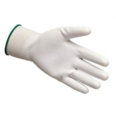 Tenyérmártott kesztyű fehér XL